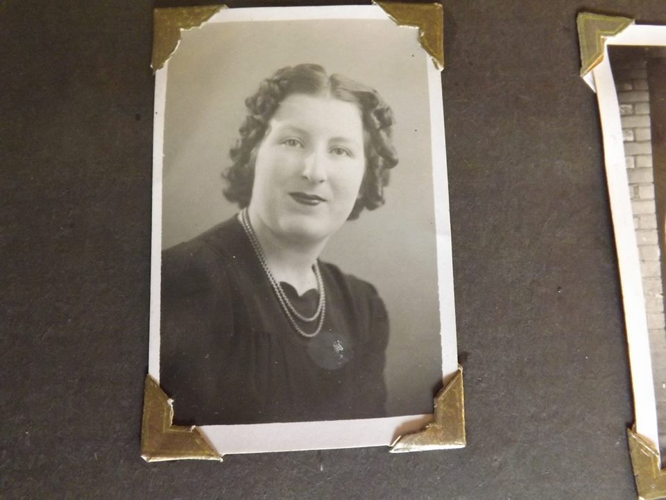 Afaded photograph of a lady